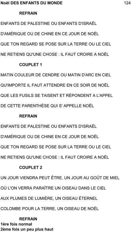 Chorale de la vall e verte page 6 - Noel enfant du monde ...